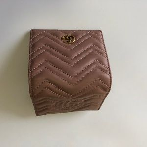 Gucci Marmont wallet dusty pink leather